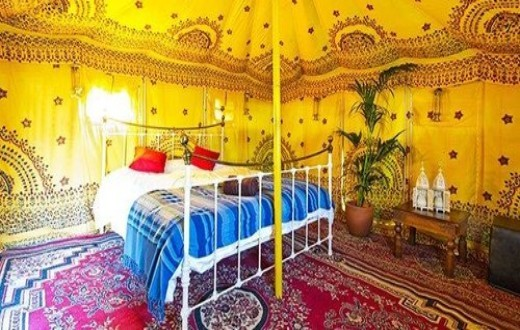 accommodation - Moroccan Themed Bedouin Tent at Bestival
