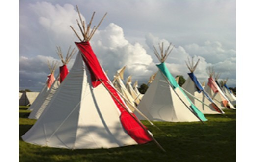accommodation - Hearthworks Tipi at Bestival