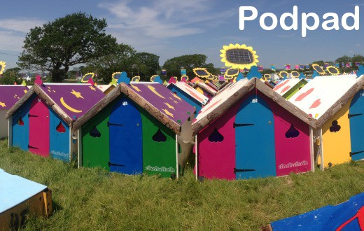 accommodation - Podpad at Gloworm Festival