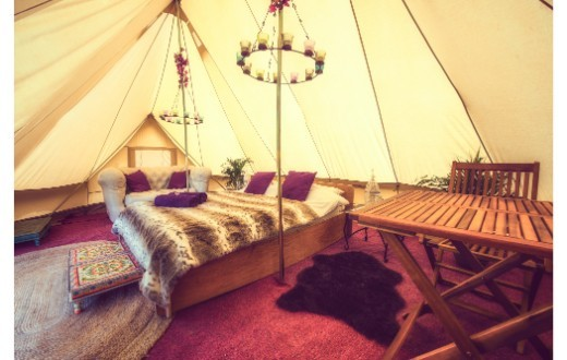 accommodation - Hotel Bell Tent at Bestival (Luxury & VIP Packages)