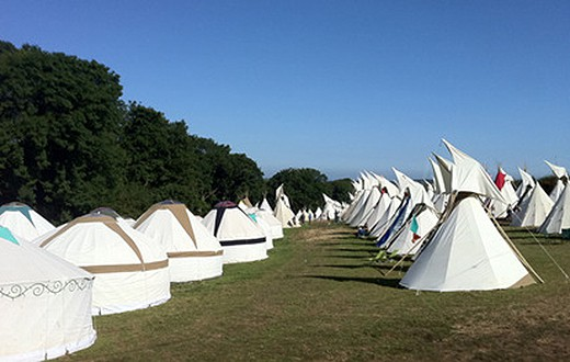 accommodation - Hearthworks Tripod Tipi at Bestival