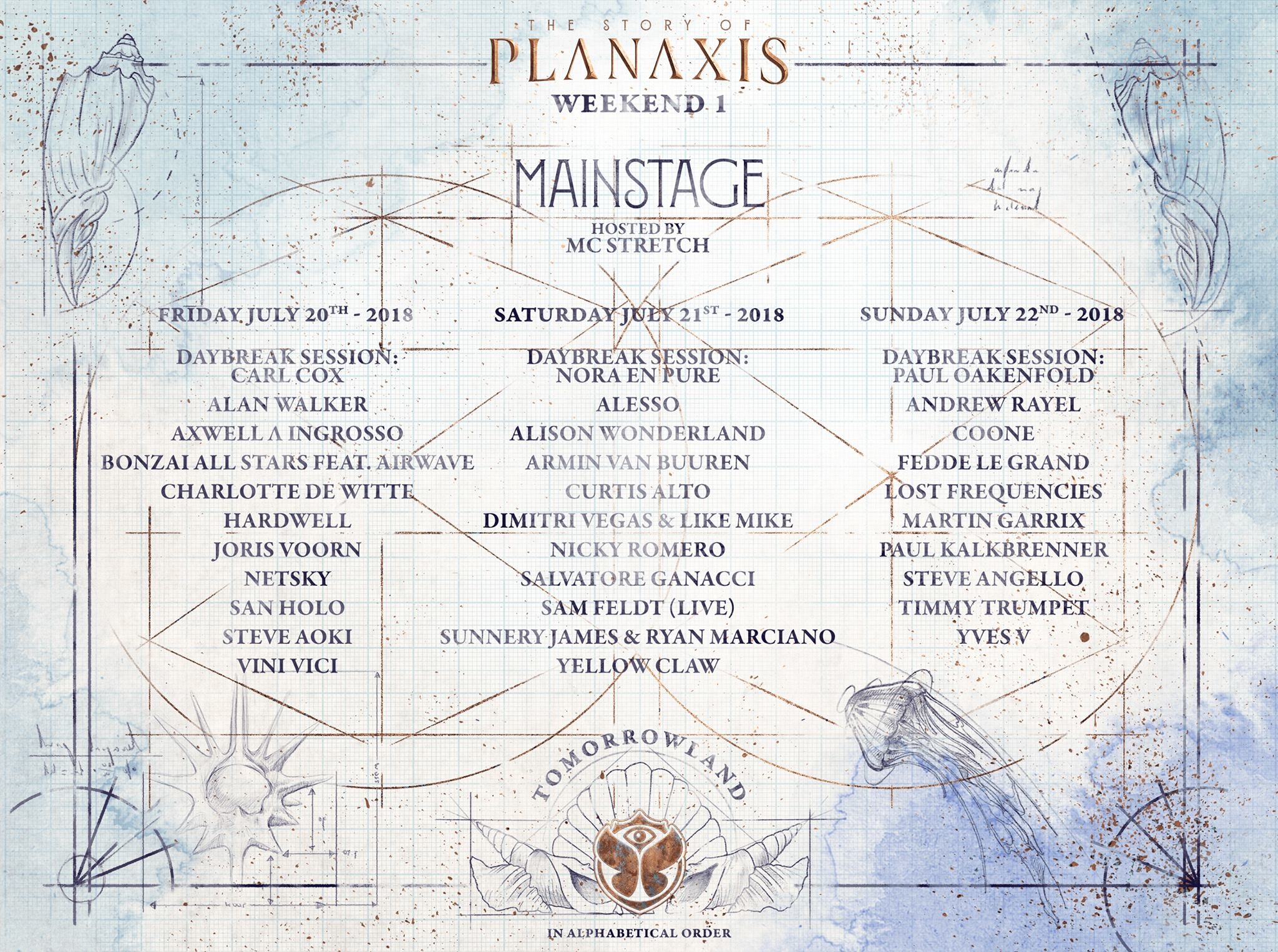 Tomorrowland 2018 Lineup: MainStage Artists and Whole Stages Added