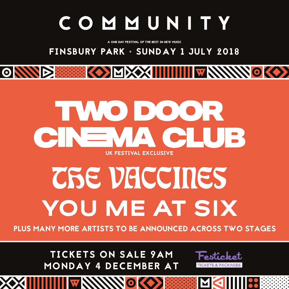 Two Door Cinema Club Amp The Vaccines To Play Community