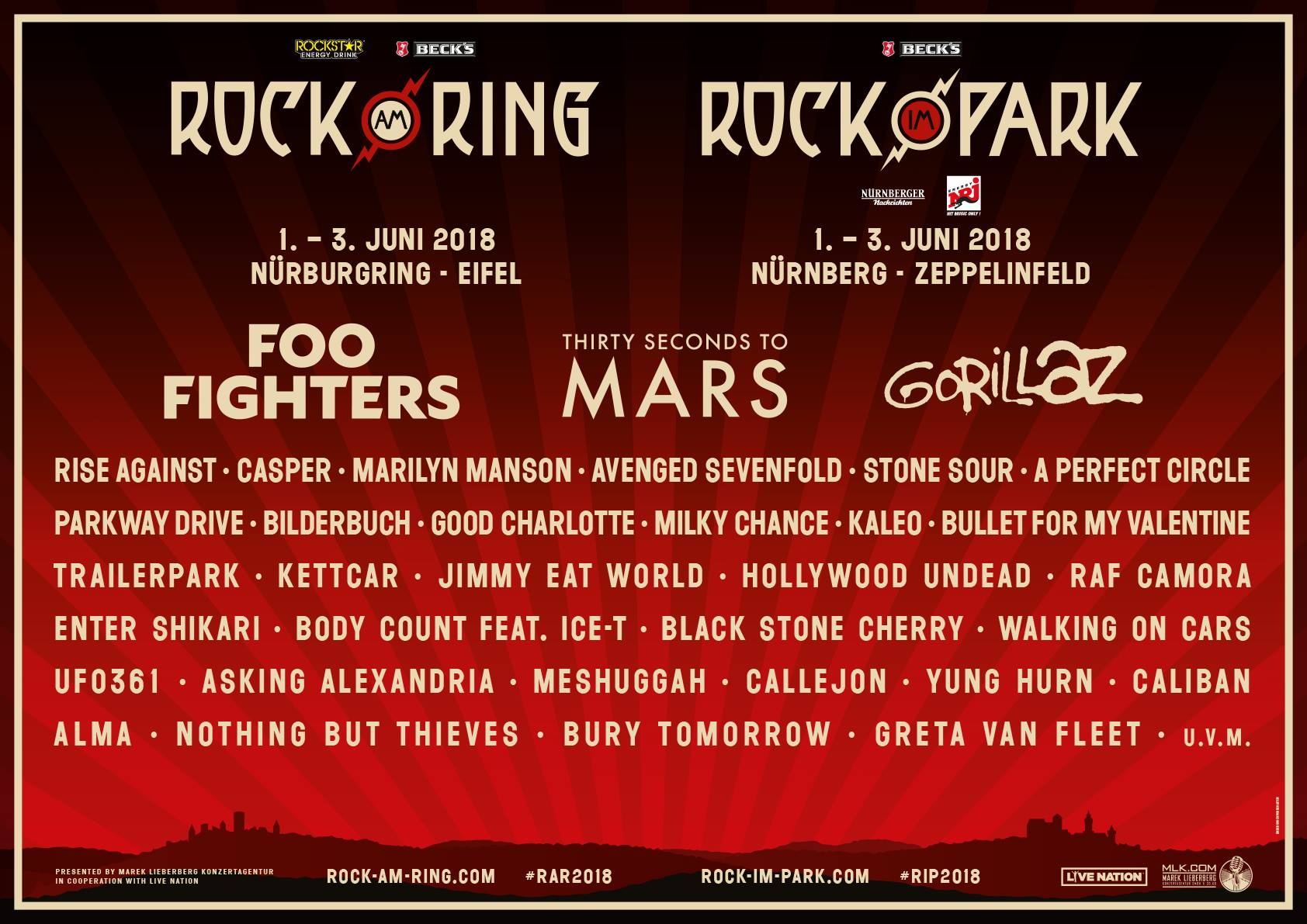 Rock am Ring & Rock im Park Reveal Huge 2018 Lineup ...