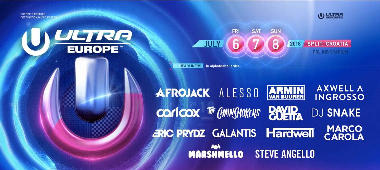 Carl Cox Afrojack Marshmello Ultra Europe S 2018 Phase E Lineup