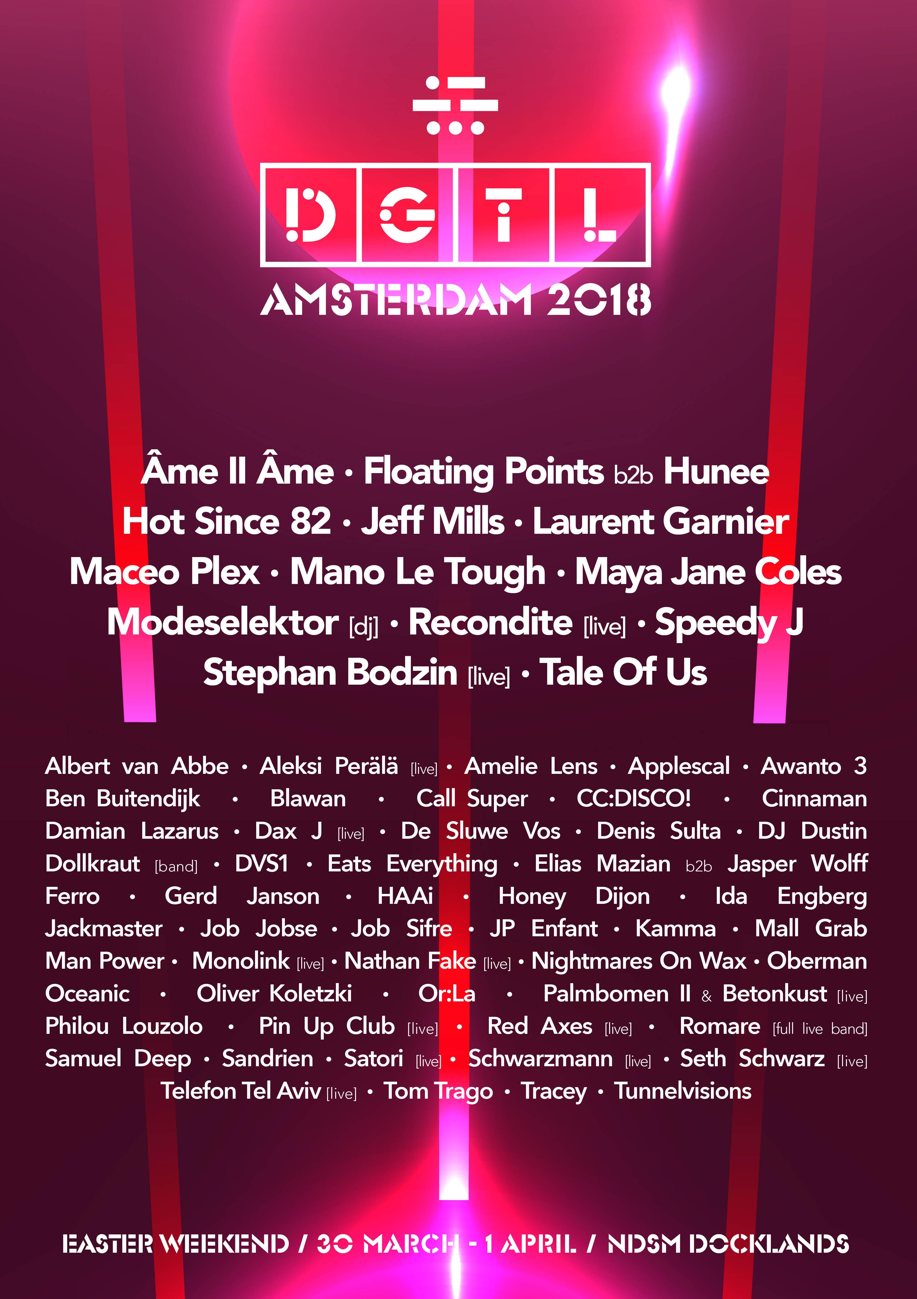 dgtl amsterdam reveal entire 2018 monster lineup festicket magazine
