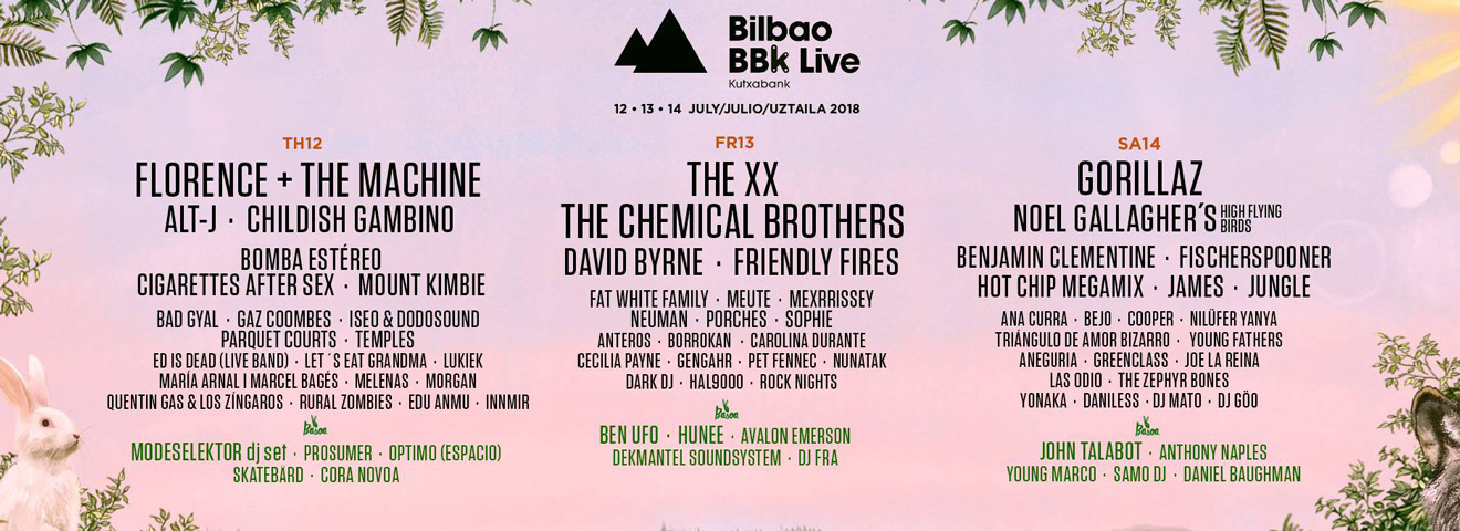 Bilbao BBK Live: Florence & The Machine, Childish Gambino and More Complete 2018 Lineup